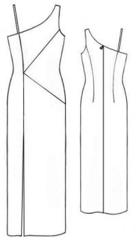 Выкройка длинного вечернего платья